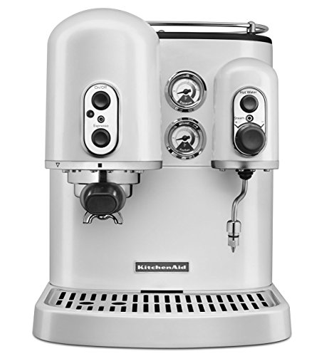 Pro Line ® Series Manual Espresso Maker - Frosted Pearl White front-128242