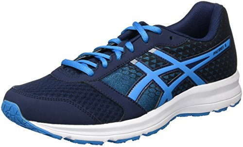 Asics Patriot 8, Scarpe da Corsa Uomo, Multicolore (Dark Navy/Blue Jewel/Black), 44 1/2 EU
