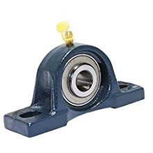 "FYH UCP205-16 Pillow Block Mounted Bearing, 2 Bolt, 1"" Inside Diameter, Set screw Lock, Cast Iron, Inch"