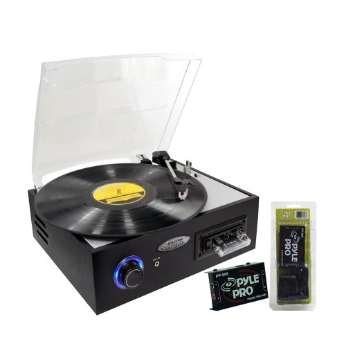 Pyle Turntable Record Player and Pre-Amplifier Package - PTTC4