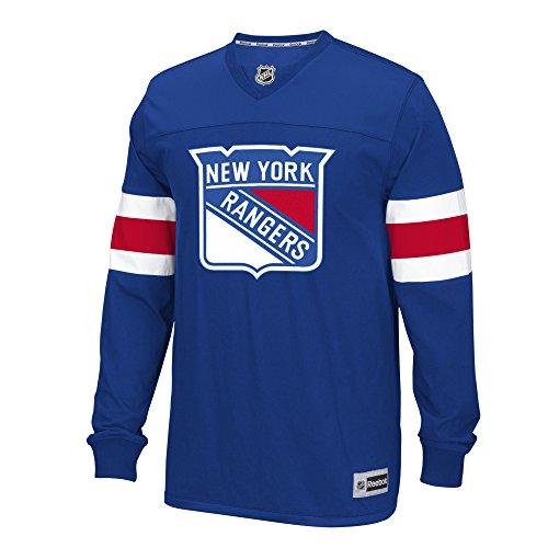 NHL New York Rangers Men's Long Sleeve Jersey Tee, Medium, Blue (New York Rangers T Shirts compare prices)