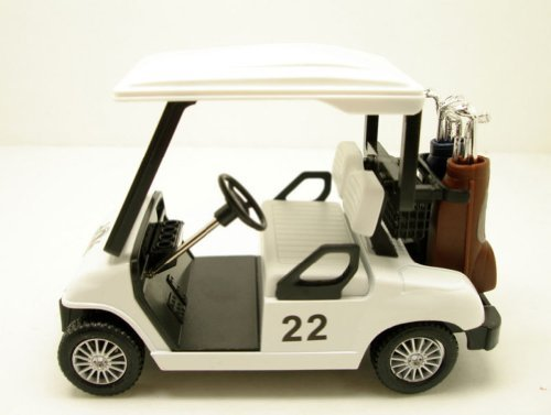 "Brand New 5"" inch Diecast metal Golf Club Cart model caddy car with club"