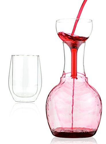 Kitchen Gizmo Wine Decanter, Aerator and Wine Glass (Wine Carafe Aerator compare prices)