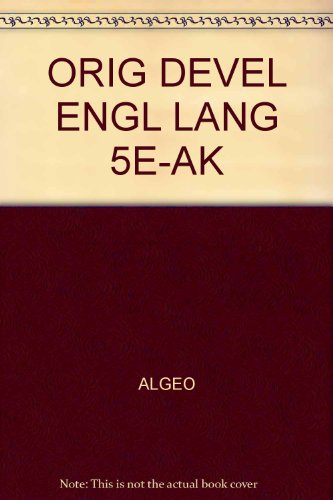 Answer Key for Algeo/Pyle's The Origins and Development of the English Language, 5th