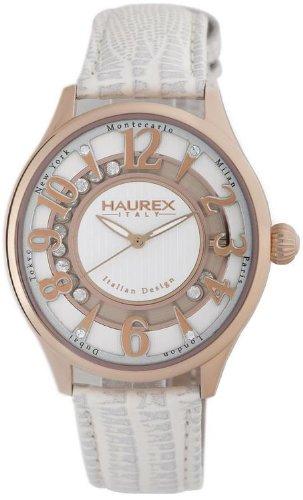 HAUREX Italy Preziosa White Dial Watch #FH336DSH- Orologio da donna