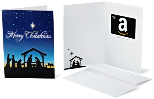Amazon.com Gift Card with Greeting Card - $10 (Nativity Scene)