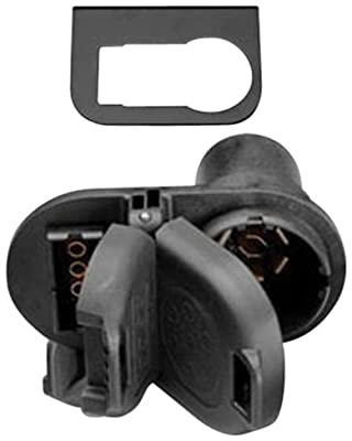Hopkins 40975 7-Way Round / 4-Way Flat Socket and Bracket by Hopkins Towing Solution