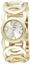 XOXO Womens XO5211 Silver Dial Gold-tone Open Link Bracelet Watch