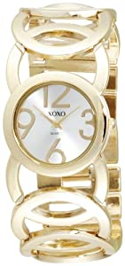 XOXO Women's XO5211 Silver Dial Gold-tone Open Link Bracelet Watch