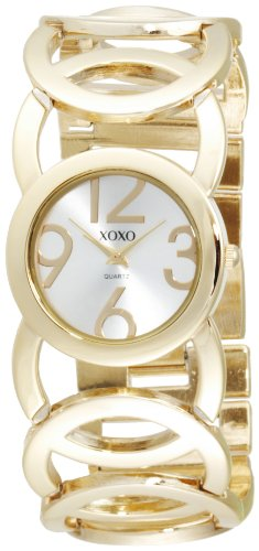 XOXO Women's XO5211 Gold-Tone Watch with Link Bracelet