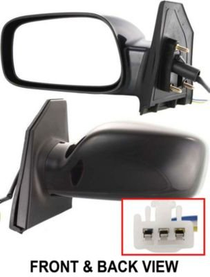 Kool Vue TY54EL Toyota Corolla CE Driver Side Power Primered Corner Mount Mirror (2005 Toyota Corolla Mirror compare prices)