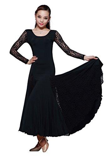[M9101 StarDance Women's Ballroom Smooth Showcase Practise Dance Costume Dress (Medium (US size 4-6),] (Dancesport Standard Costume)