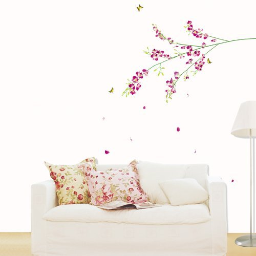 Modern House Brown Picture Photo Frame Tree Vine removable Vinyl Mural Art Wall Sticker Decal