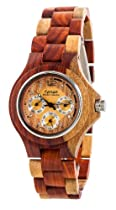 Tense Inlaid Multicolor Wood Triple Dial Mens Round Watch G4300I LF