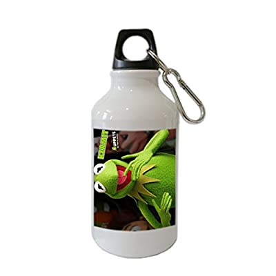 Muppets Kermit Miss Piggy Custom Stainless Steel Sports Water Bottle with Loop Cap - CyberSome Best Gift