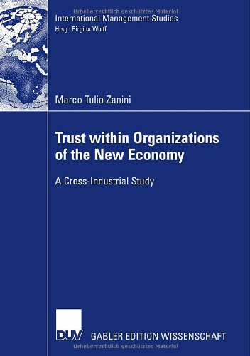 Trust within the Organizations of the New Economy Zanini M.T.