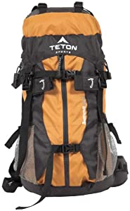"Teton Sports Summit 1500 Ultralight Internal Frame Backpack 22.5""x 11""x 9"" Orange"
