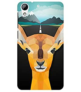 Chiraiyaa Designer Printed Premium Back Cover Case for HTC Desire 728 (Deer Illustration) (Multicolor)
