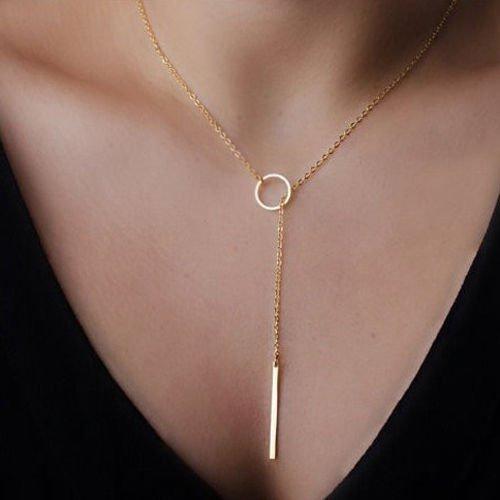 urban-anthropologie-gold-plate-circle-bar-simple-chain-pendant