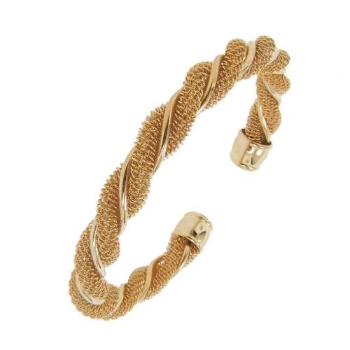 Rope Design Cuff in Rose Tone