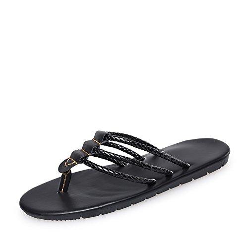 Tendenze in estate infradito/Eleganti Pantofole-nero Lunghezza piede=26.8CM(10.6Inch)