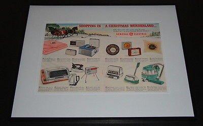 1959 General Electric Framed 16X20 Original Vintage Advertisement Display front-626160