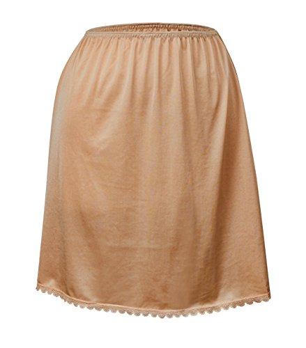 Valair Women's Classic Half Slip Skirt, 100% Nylon, 26 Inch, 2X-Large, Nude