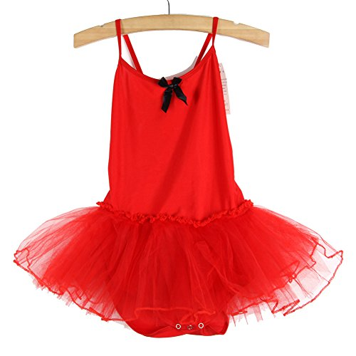 ROPALIA Girls Party Ballet Tutu Dance Dresses Kids Leotard Sleeveless Skirt 2-7Y
