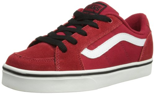 Vans Boys' Y TRANSISTOR (SUEDE) CHILI P Trainers Red Rouge - Rot ((Suede) chili p) 34.5