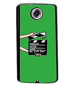 PRINTVISA CRAP Premium Metallic Insert Back Case Cover for Motorola Nexus 6 - D5872