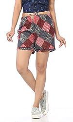 Abony Women's Cotton Printed Short (Size:L)