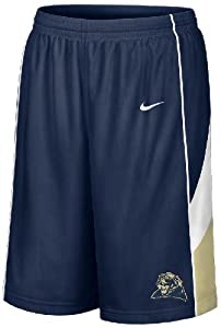 Pitt Panthers Blue Screen Printed College Basketball Shorts By Nike by Nike