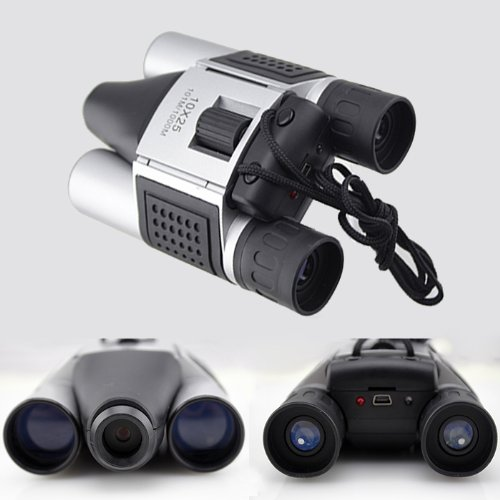 10X25 Digital Camera Binoculars Video Recording Telescope 1.3Mp Coms Sensor