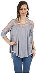 MANKA Women's Long Sleeve Top (MK-508GR_M, Grey, Medium)