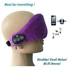 buy Dolirox® Wireless Bluetooth Velvet Eye Patch Music Eye Mark Hands-Free Phone Call Answer Ears-Free Eyeshade For Sleeping With Speaker And Mic (Dark Purple)