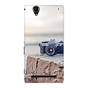 Enticing Camera on Rock Multicolor Back Case Cover for Sony Xperia T2
