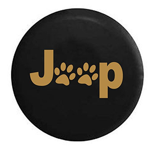 Spice - Jeep Paw Prints Dog Lover Spare Tire Cover Black 30-31 in (Jeep Paw Print Tire Cover compare prices)