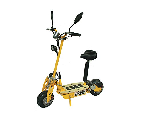 800W Electric Folding Scooter - Yellow