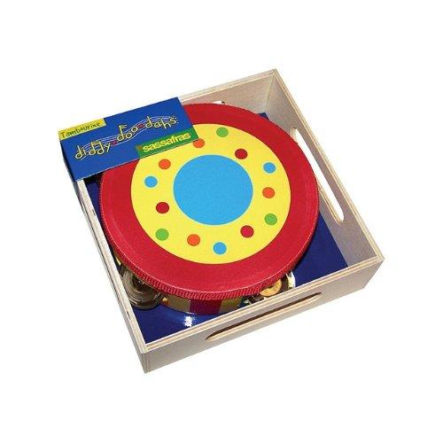 Diddy-Doo-Dahs / Stripe & Dot Wooden Tambourine