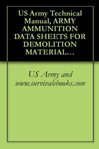 US Army Technical Manual, ARMY AMMUNITION DATA SHEETS FOR DEMOLITION MATERIALS, TM 43-0001-38, 1994