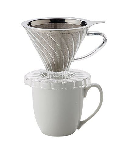 Hic Pour Over Coffee Maker : HIC Pour-Over Permanent Coffee Filter 4-Cup Capacity, Stainless Steel Home Garden Kitchen Dining ...