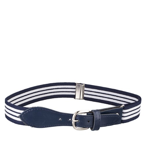 Kids Striped Elastic Strech Belt  Leather Closure