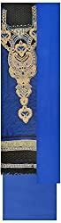 Simran Silk Store Women's Cotton Semi Stitched Dress Material (Blue)