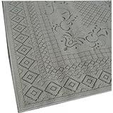 エジプト綿100%ラグ カランバン織 グリーン 2畳用:200x200cm 【丸巻ラグ、エジプト製】