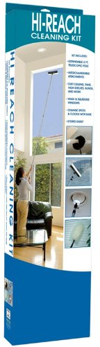 Evriholder Hi-Reach Telescoping Microfiber Cleaning Kit With 10-Foot Extension Pole