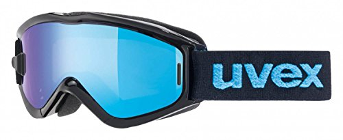 UVEX, Maschera da sci Speedy Pro Take Off, Multicolore (Black/Blue), Taglia unica