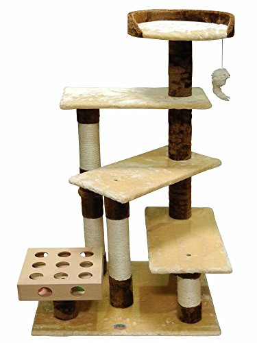 Cool cat tree plans go pet club cat tree reivew for Cat tree blueprints