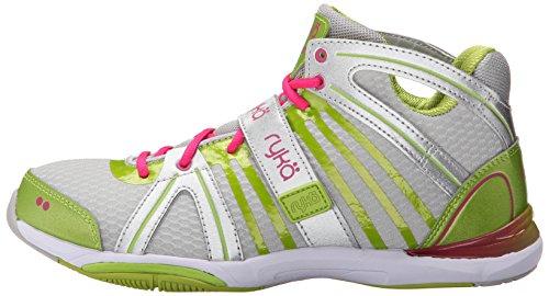 RYKA Women's Tenacity Cross-Training Shoe, Lime/Pink, 9.5 ...