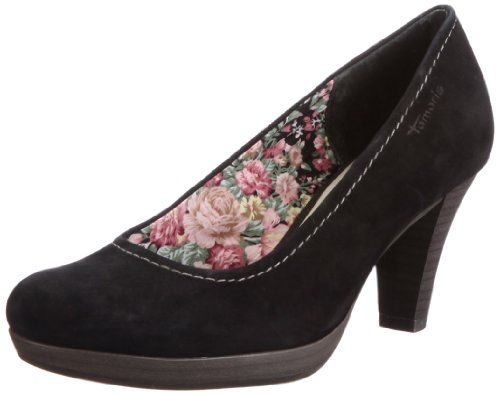 Tamaris 1-1-22410-28, Damen Pumps, Schwarz (BLACK SUEDE 004), EU 41