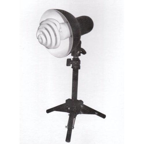 Stativ-Tageslicht-Fotolampe – Höhe variabel verstellbar bis 53 cm, inklusive Spiral-Tageslicht-Energiesparleuchte 5400 K, E27